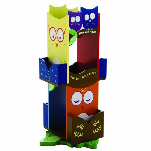Owls Revolving Bookcase - 1