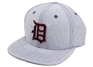 Detroit Tigers MLB American Needle The Sound Cotton Oxford Adjustable Navy Grossgrain... by American Needle