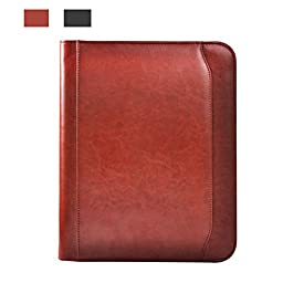 A4 sheet manager clip Zipper calculator multifunctional package Sales clip file data Leather notepad