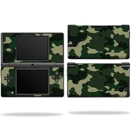 Protective Vinyl Skin Decal Cover for Nintendo DSI Green Camo