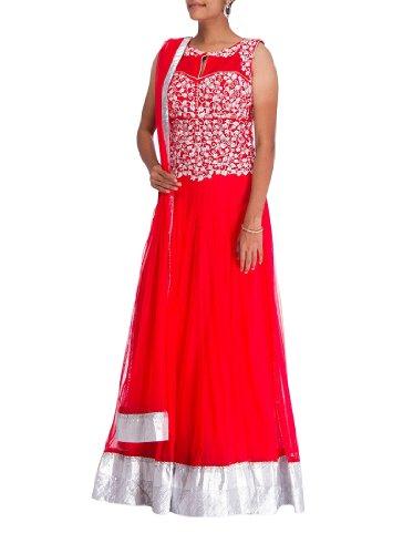 """Cbazaar Fab Pink Floor Length Anarkali Suit (Bust: 34"""")"""