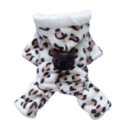 Adorable Leopard Dog Coat for Dog Hoodie Dog Clothes Soft Cozy Pet Clothes,M