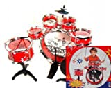 TOY DRUM SET CHILDREN EDUCATIONAL 11 PCS MUSICAL DRUM INSTRUMENT SET