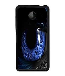 PrintVisa Metal Printed Eye Designer Back Case Cover for Nokia Lumia 630-D4994