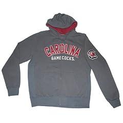 South Carolina Gamecocks Colosseum Gray Maroon Full-Zip Hoodie Sweatshirt (L) by Colosseum