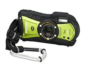 Pentax Optio WG-1 GPS Digital Camera - Green (14MP, 10m Water Proof, 1.5m Shock Proof,  5 x Wide Angle Optical Zoom and GPS Function) 2.7 inch LCD