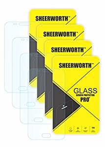 SheerworthTM Combo Set Of 4 Samsung GALAXY A8 HD+ 9H Hardness Toughened Tempered Glass Screen Protector