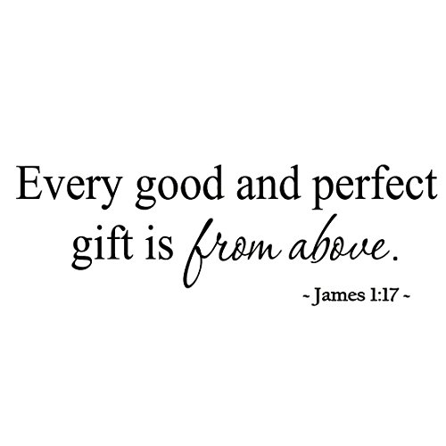 Every Good and Perfect Gift is From Above Nursery Wall Art Babys Room Decals Bible Sayings VWAQ-193 (Every Good And Perfect Gift compare prices)