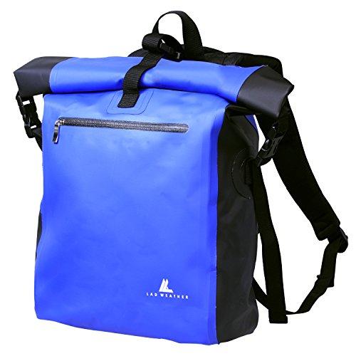 ラドウェザー 防水リュック 大容量 25 (25L) ブルー 自転車/ バイク 撥水 止水ファスナー ターポリン 軽量デイパック/ 防水バッグ