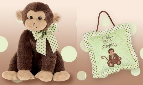 Giggles Monkey Musical Plush Toy And Baby Sleeping Pillow