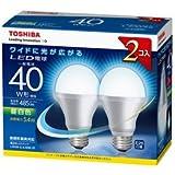 東芝 E-CORE(イー・コア) LED電球 一般電球形 5.4W (光が広がるタイプ・白熱電球40W相当・485ルーメン・昼白色) 2個パック LDA5N-G-K/40W-2P