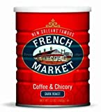 French Market Coffee & Chicory City Roast (Dark Roast) 12oz Can-2pack
