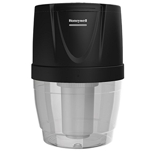 Honeywell HWB101B Filtration System for Water Dispensers, Reduces Chlorine and Particulates to help improve water taste,  Avoid water bottles heavy lifting, spills and storage, Black (4 Gallon Pitcher compare prices)