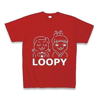 ルーピー夫妻 濃色 Tシャツ Pure Color Print(赤) M