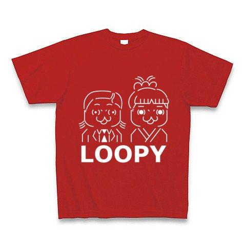 ルーピー夫妻 濃色 Tシャツ Pure Color Print(赤) XL