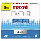 Maxell 638002 Dvd-R Data & Video 5 Count