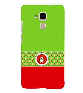 Green Owl 3D Hard Polycarbonate Designer Back Case Cover for Huawei Honor 5C : Huawei Honor 7 Lite : Huawei GT3