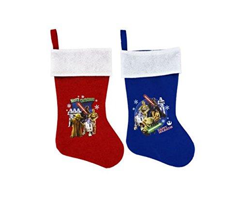 "Star Wars Character Stocking 18"" Christmas Holiday Decor - Set of 2"