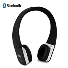 buy August Ep635 Bluetooth Wireless Stereo Headphones - Leather Cushioned Headset With Built-In Microphone And Rechargeable Battery - Compatible With Mobile Phones, Iphone, Ipad, Laptops, Tablets, Smartphones Etc.
