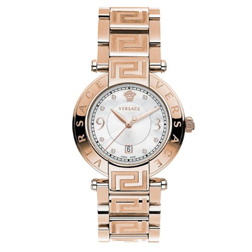 Versace Ladies Reve Analogue Watch 68Q80SD498 S080 with Rosegold Plated Bracelet