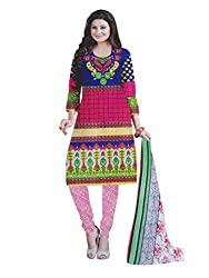 Parth Women's Cotton Unstitched Dress Material_1210_Multicolored_Freesize