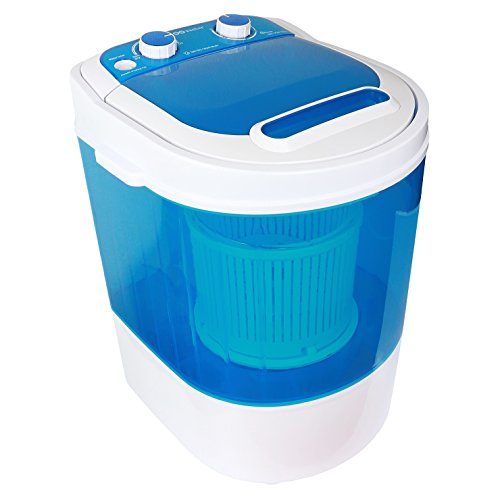 WOOWasher Mini Portable Washing Machine & Spin Dry 6.6 lbs Capacity Compact Laundry Washer for Clothes, Garments, Towels (Blue)