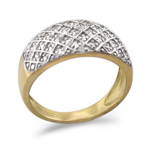 9ct Yellow Gold Ladies Turban Ring Set  10Points