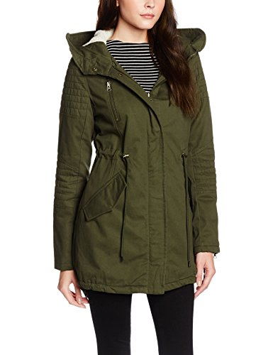 Urban Classics Ladies Sherpa Lined Cotton Parka, Giacca Donna, Grün (Olive 176), 44