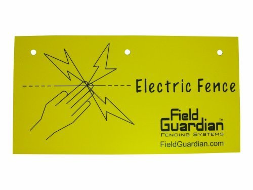Field Guardian Electric Fence Warning Sign By Farm Supply, Llc