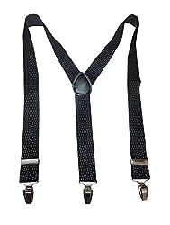 Navaksha Black Smoky Design Adjustable Suspender
