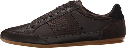 Lacoste Men's Chaymon 116 1 Spm Fashion Sneaker Fashion Sneaker, Dark Brown/black, 8.5 M US