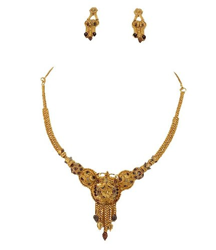 Goldencollections Golden micro Necklace Set for Women #DSCF4020 (yellow)