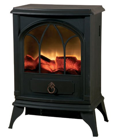 Portable Electric Wood Burner Style Stove - 2000W