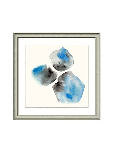 Art Source Watercolor Blue Pebble Print, Multi, 23 x 23