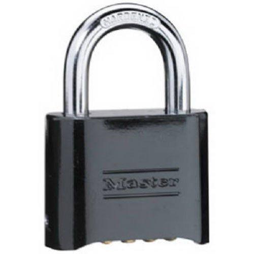 Master Lock 178D Set-Your-Own Combination Padlock, Die-Cast, Black