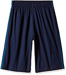 Jockey Men's Cotton Shorts (8901326123577_9426_X-Large_Navy and Seaport Teal)