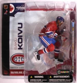 McFarlane Toys NHL Sports Picks Series 5 Action Figure:Saku Koivu (Montreal Canadiens) Red Jersey