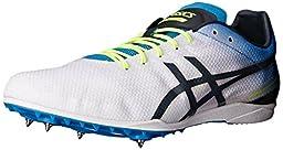 ASICS Men\'s Cosmoracer LD Track Shoe, White/Methyl Blue/Dark Slate, 5 M US