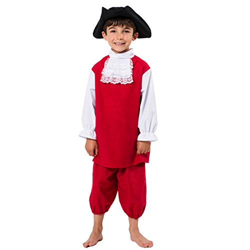 Red Coat Costume for Kids 8-10 Years