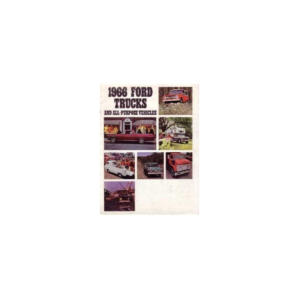 1966 FORD TRUCK Sales Brochure Literature Book Piece Advertisement Options