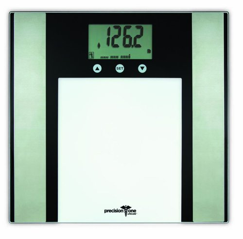 Image of Precision One 7851 Glass Body Fat/Body Compostion Scale (B0058C958I)