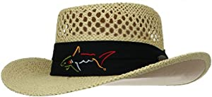Greg Norman Mens Branded Straw Hat by Greg Norman