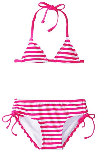 Kanu Surf Baby Girls' Bali Stripe Bikini, Pink, 24 Months