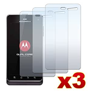Motorola Droid 3 XT862 / Milestone 3 XT883 - THREE (3) Clear Screen Protectors