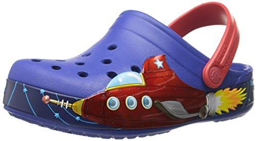 crocs Crocband Boys Galactic Clog (Toddler/Little Kid), Cerulean Blue, 3 M US Little Kid
