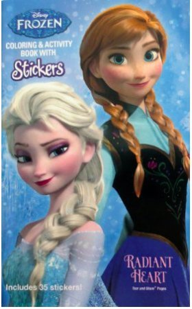 Disney Frozen Coloring & Activity Book with Stickers Radiant Heart
