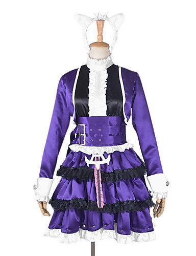 [XXL League Of Legends Annie Purple Lolita Dress Cosplay Costume , female-xxxl , female-xxxl] (League Of Legends Annie Cosplay Costume)
