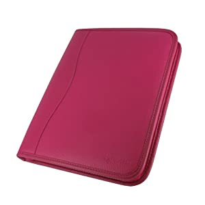 rooCASE Executive Portfolio Leather Case for  iPad 2 - Magenta
