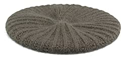 Womens Slouchy Angora Knit Beret Warm Cozy Winter Beanie Hat (Brown)