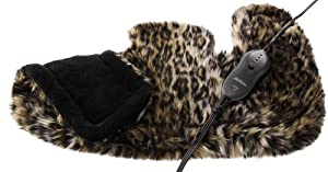 Sunbeam Renue Tension Relief Wrap, Leopard, Neck and Shoulders